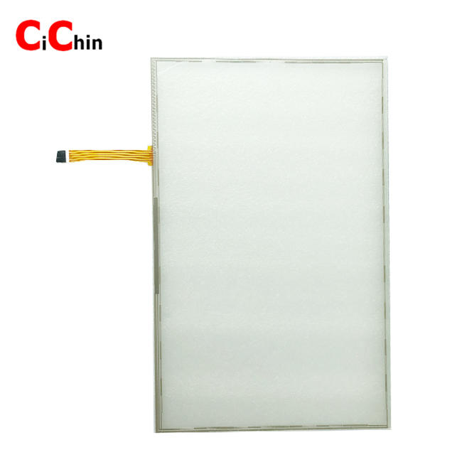 19 inch 5 wire resistive flat touch screen panel, vandal proof touch screen